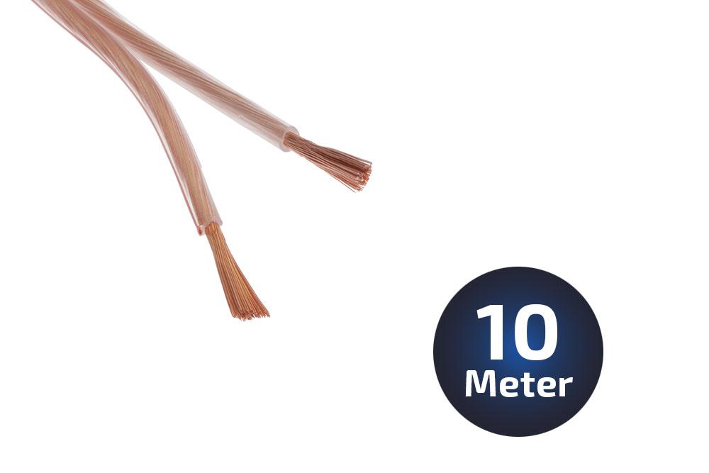 10-Meter LS-Kabel 2 X 15qmm OFC Vollkupfer