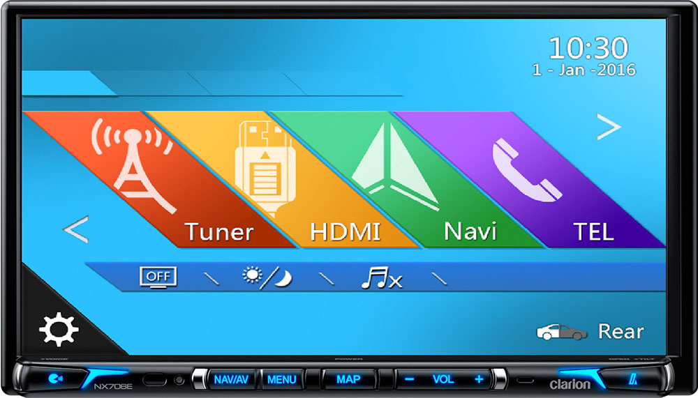 Clarion NX706E 2-DIN Navigation mit Bluetooth