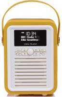 View Quest Retro Mini Radio mit Bluetooth, Mustard
