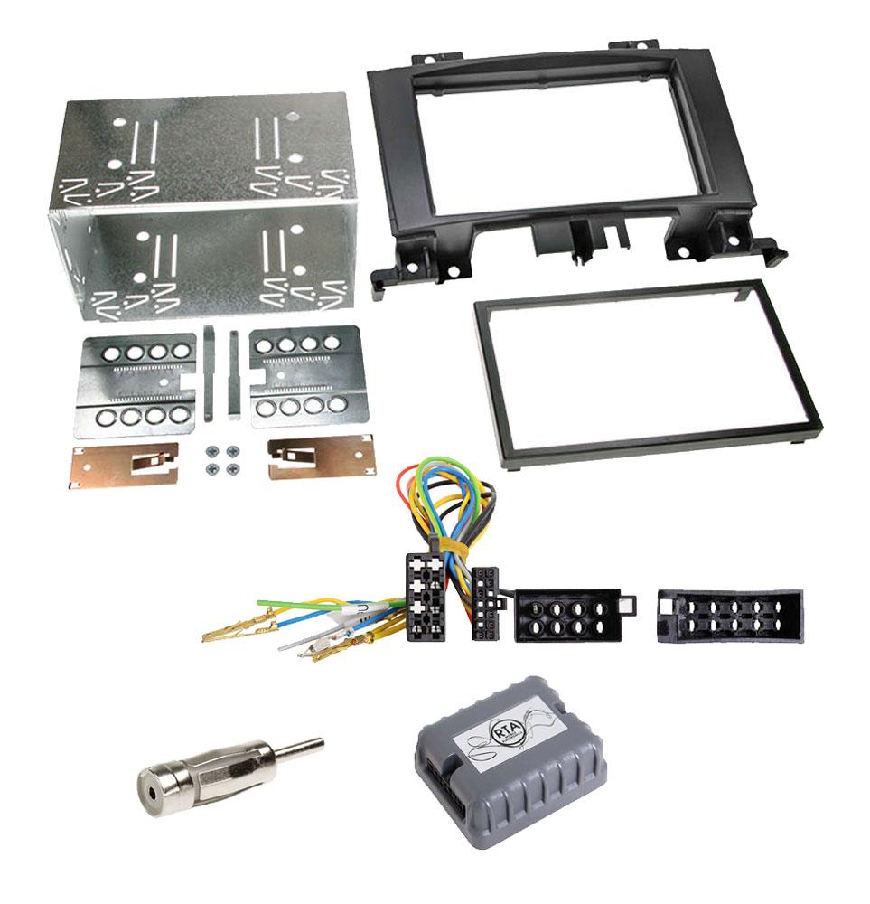Mercedes Sprinter W906 2-DIN Radio-Installationskit ohne Lenkradfernbedienung mit ISO