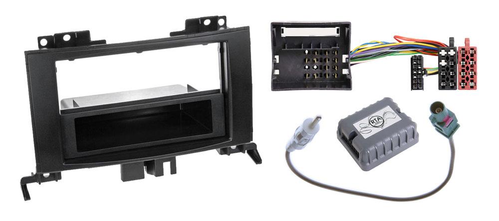 Mercedes Sprinter W906 1-DIN Radio-Installationskit ohne Lenkradfernbedienung mit Quadlock