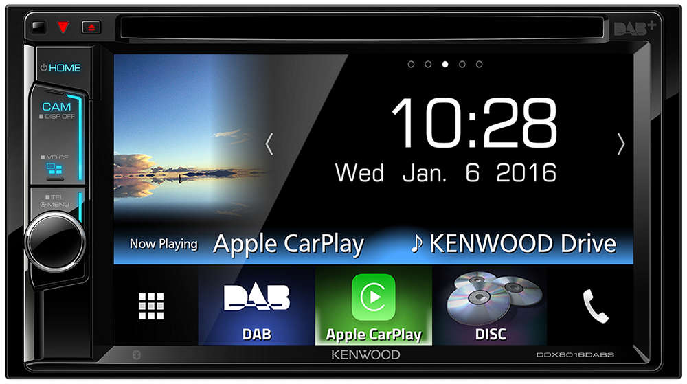 Kenwood DDX8016DABS Doppel-DIN Autoradio mit Apple CarPlay und Bluetooth