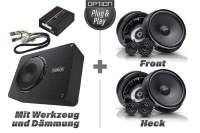 VW Golf 7 Soundpaket | Option V4 | Front- und Hecklautsprecher + DSP-Verstärker + Subwoofer