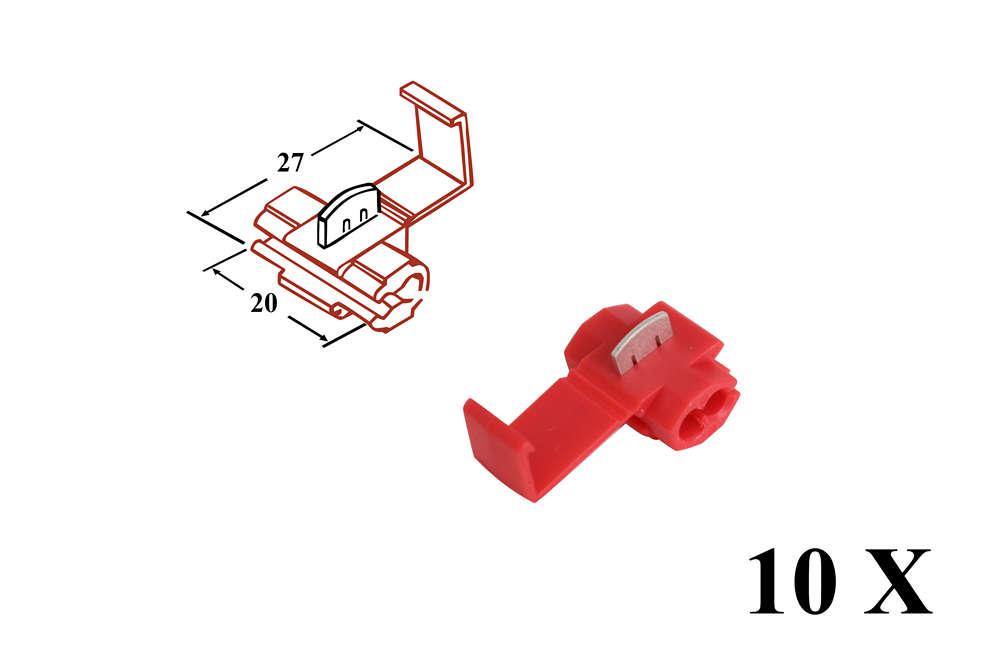 Abzweigverbinder rot bis 15qmm Stromdieb - 10 Stück