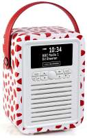 View Quest Retro Mini Radio mit Bluetooth, Red Lip