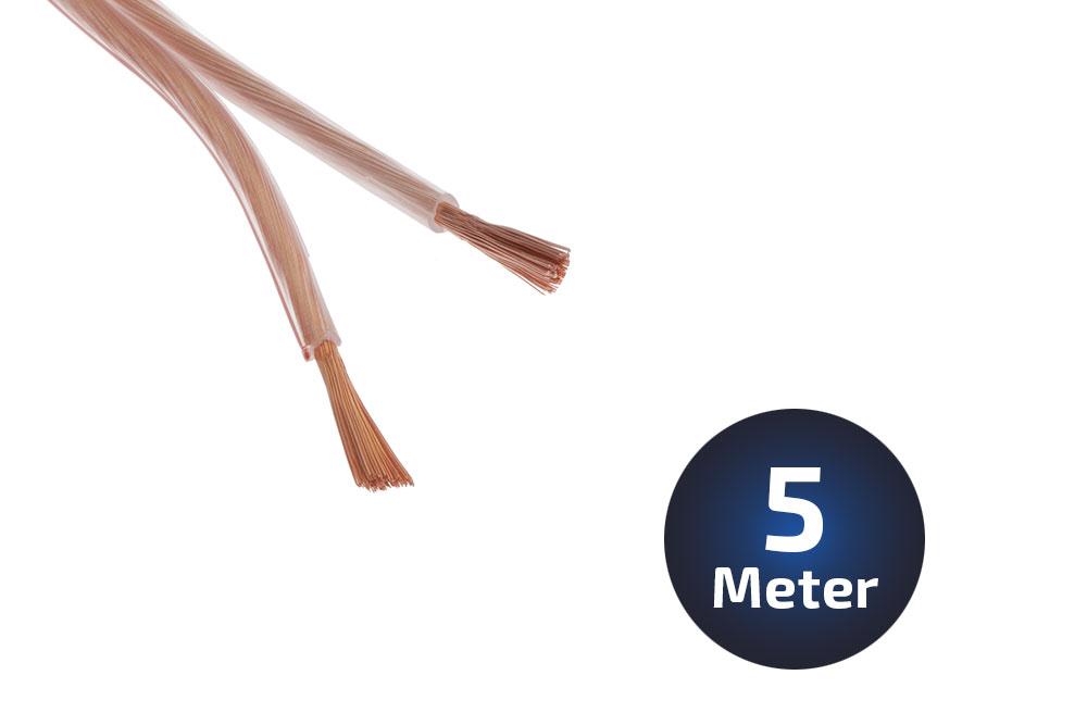 5-Meter LS-Kabel 2 X 15qmm OFC Vollkupfer