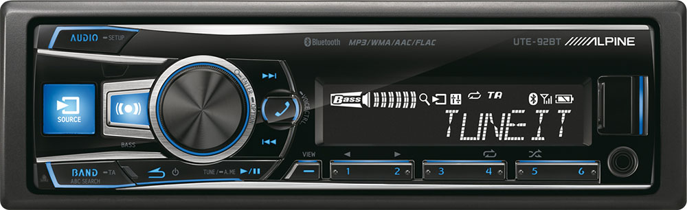 Alpine UTE-92BT Autoradio 1-DIN mit Bluetooth