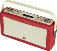 View Quest Hepburn MkII Radio DAB+, Bluetooth, Red