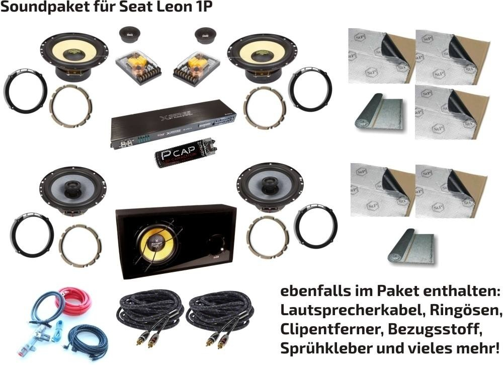 Car-Hifi-Set für Seat Leon 1 P