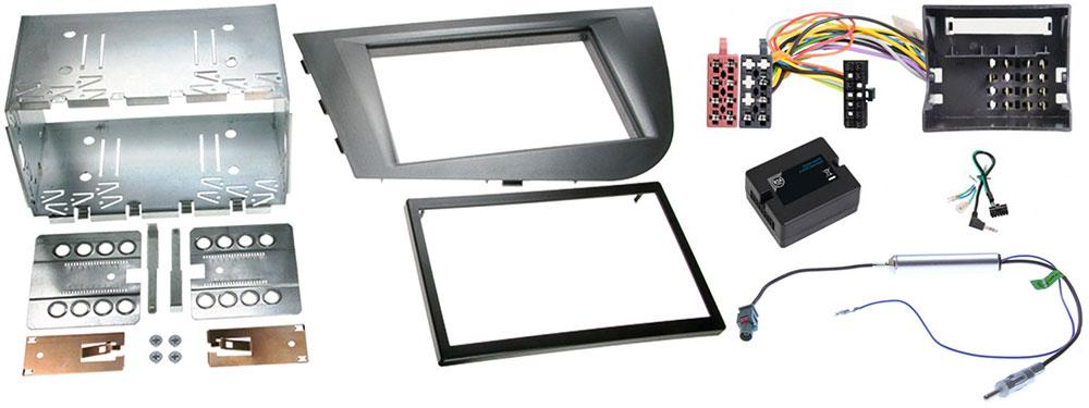 Autoradio-Einbauset für Seat Leon 1 P für 2-DIN-Autoradios