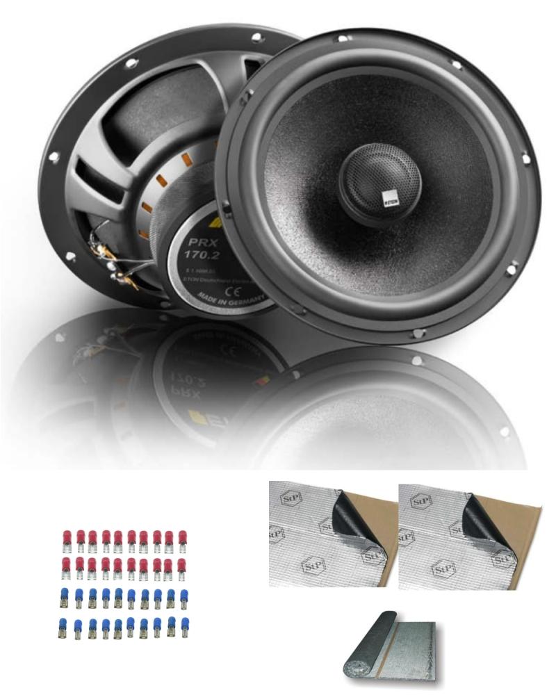 car hifi standard hecklautsprecher paket d mmung zubeh r. Black Bedroom Furniture Sets. Home Design Ideas