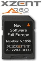 Xzent Navigation Software für X-F220
