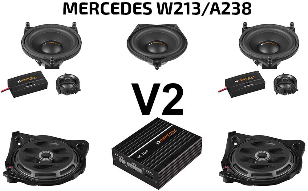 Mercedes E-Klasse W213  A238 Soundpaket | Option V2