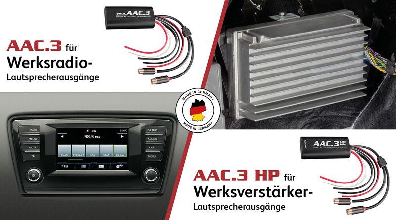 High-Low-Adapter am Werks-Verstärker