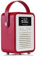 View Quest Retro Mini Radio mit Bluetooth, Red