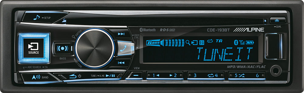 Alpine CDE-193BT Autoradio 1-DIN mit Bluetooth