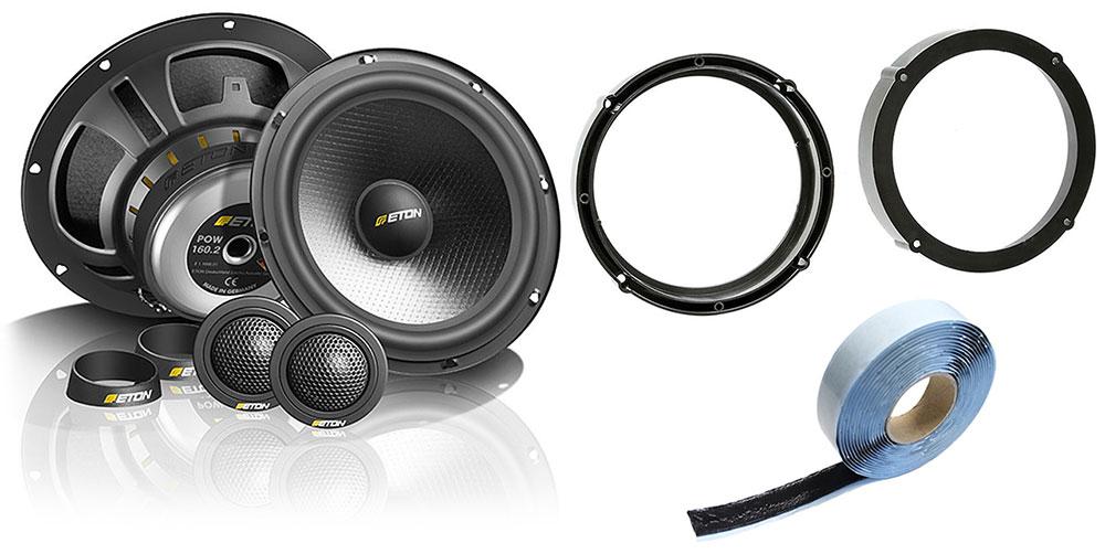 Lautsprecherset Eton POW160.2 für VW Seat Skoda