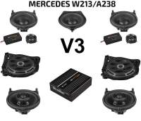 Mercedes E-Klasse W213 / A238 Soundpaket | Option V3 Koax