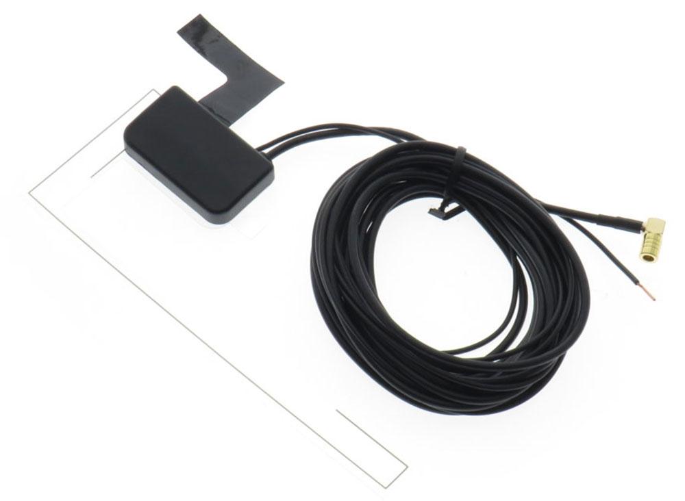 Glasklebeantenne für DAB-Empfang mit 3m Anschlusskabel SMB-Buchse und extra Remote