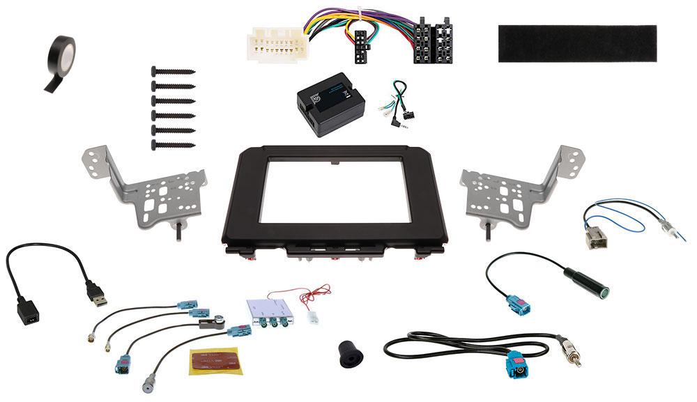 Suzuki Jimny 2-DIN Radio-Installationskit Fahrzeuge ohne DAB-Vorbereitung