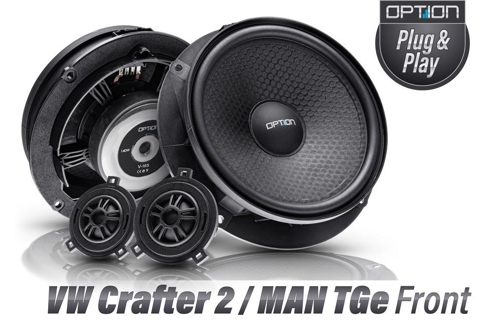 VW Crafter 2  MAN TGe Lautsprecher | Option