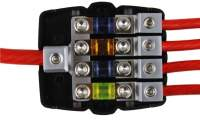 Mini-ANL Sicherungsverteilerblock 1x50/20qmm auf 4x20/10 qmm