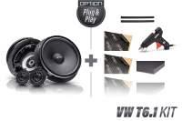Option Air VW T6.1-Kit V1 Lautsprecher vorne Komplettset mit Einbauzubehör