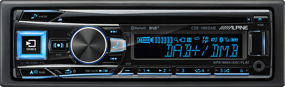 Alpine CDE-196DAB - Autoradio mit Digitalradio