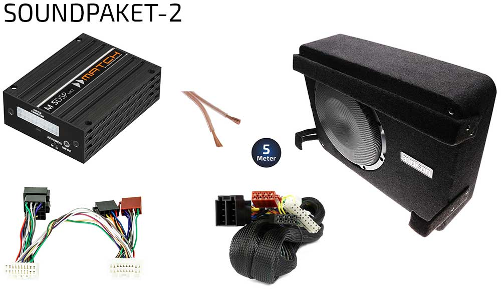 Suzuki Jimny GJ Option Soundpaket 2 | DSP-Endstufe + Subwoofer