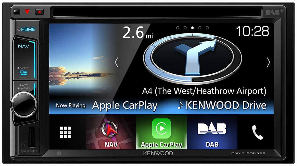 Kenwood DNX5160DABS Autoradio 2-DIN mit Navigation und DAB+ Digitalradio