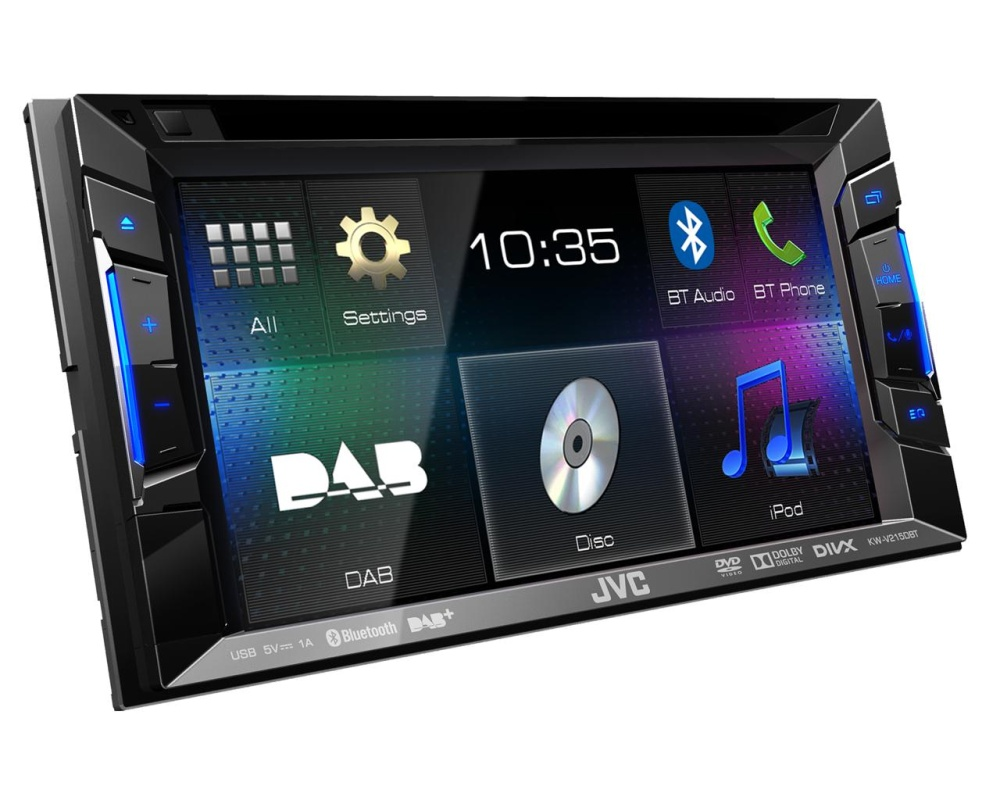 jvc kw v215dbt autoradio mit 2 din kaufen ars24. Black Bedroom Furniture Sets. Home Design Ideas