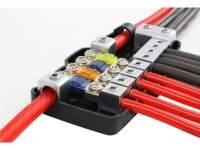 Mini-ANL Sicherungsverteilerblock Plus: 2x50/20 qmm auf 4x20/10 qmm und Masse