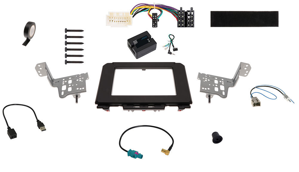 Suzuki Jimny 2-DIN Radio-Installationskit Fahrzeuge mit DAB-Vorbereitung