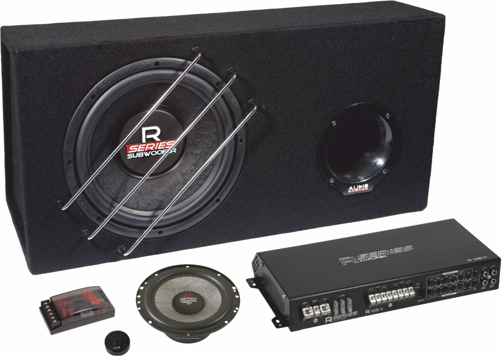 audio system r series komplett set 165 universal car. Black Bedroom Furniture Sets. Home Design Ideas