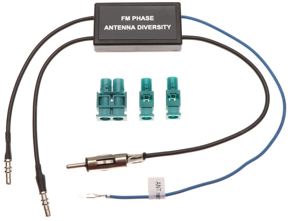 Antennenadapter mit Phantomspeisung Doppel-FAKRA auf DIN