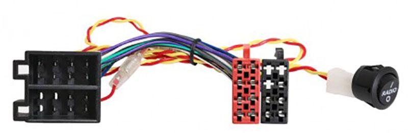 Adapterkabel ISO - ISO mit Schalter für Wohnmobile