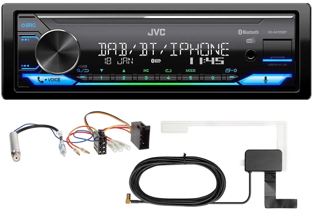 USB Autoradio Digitalradio Einbauset PKW KFZ Radio JVC DAB 3BG VW Passat 3B