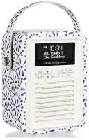 View Quest Retro Mini Radio mit Bluetooth, Blue Daisy