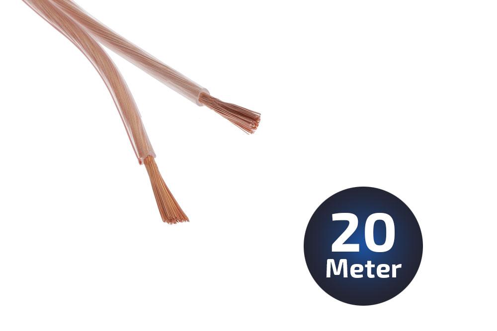 20-Meter LS-Kabel 2 X 15qmm OFC Vollkupfer