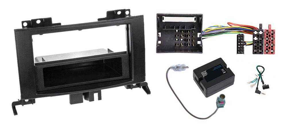 Mercedes Sprinter W906 1-DIN Radio-Installationskit mit Lenkradfernbedienung und Quadlock