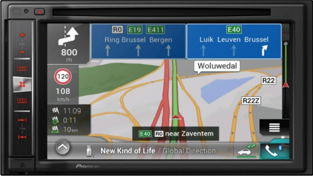 Pioneer AVIC-F980BT Autoradio 2-DIN mit Navigation, Bluetooth und Apple CarPlay