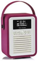 View Quest Retro Mini Radio mit Bluetooth, Purple