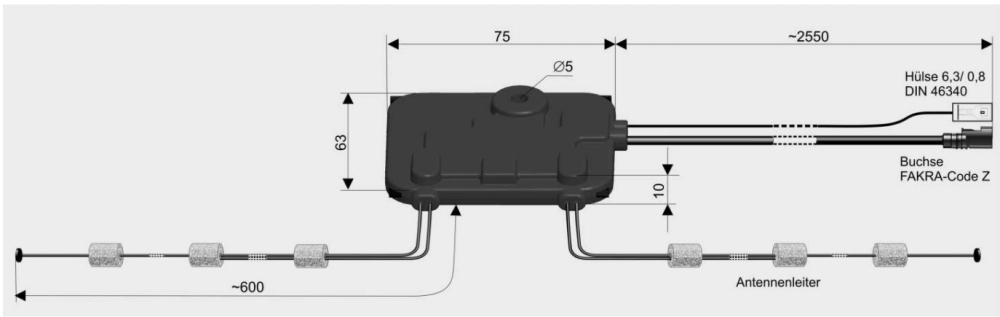 Antenne UKW DAB+ mit Splitter für Wohnmobile Art. 5010.02