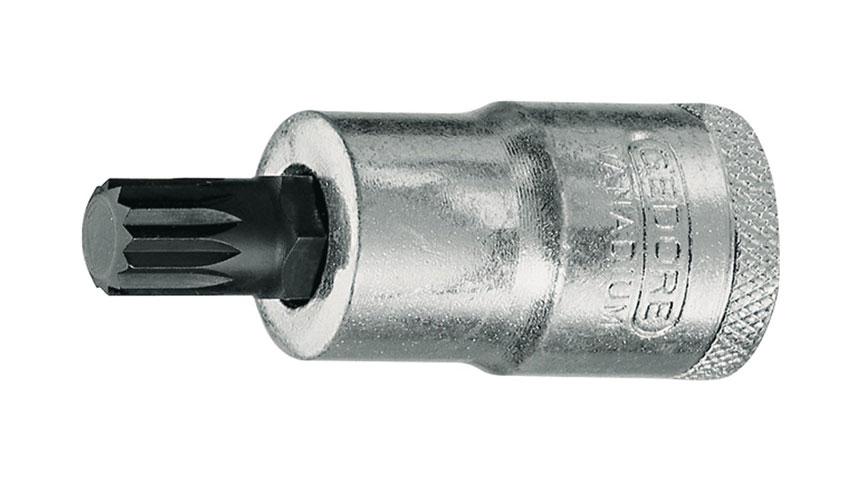 Steckschlüsseleinsatz INX 19 12  Innen-Vielzahn M10 Länge 55 mm GEDORE