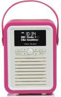 View Quest Retro Mini Radio mit Bluetooth, Pink