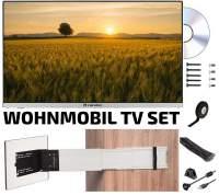 TV-KIT220X-DB Komplettset für TV im Wohnmobil 55cm LED mit Halterung und allem Zubehör