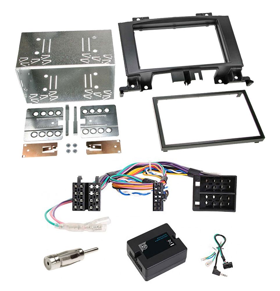 Mercedes Sprinter W906 2-DIN Radio-Installationskit mit Lenkradfernbedienung und ISO