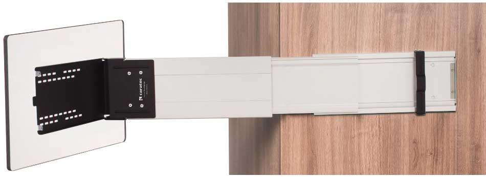 Caratec Flex CFA102L TV-Halter seitlicher Auszug mit Pushlock