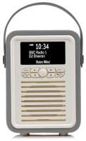 View Quest Retro Mini Radio mit Bluetooth, Dark Grey