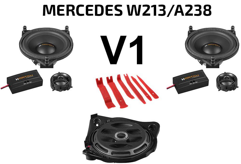 Mercedes E-Klasse W213  A238 Soundpaket | Option V1